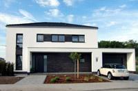 modernes einfamilienhaus massivhaus satteldach architektenhaus zum festpreis schl sselfertiges. Black Bedroom Furniture Sets. Home Design Ideas